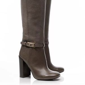 Tory Burch Jenna Boot Brown pebbled Leather 6.5